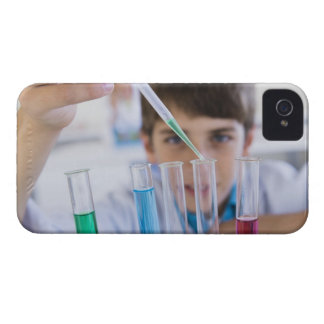 Student doing science experiment 3 iPhone 4 case