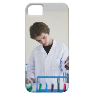 Student doing science experiment 4 iPhone SE/5/5s case