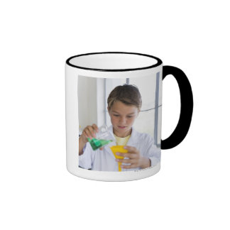 Student doing science experiment 5 mug