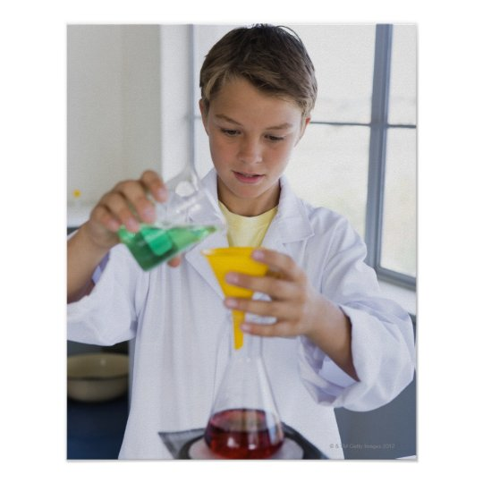 Student doing science experiment 5 poster