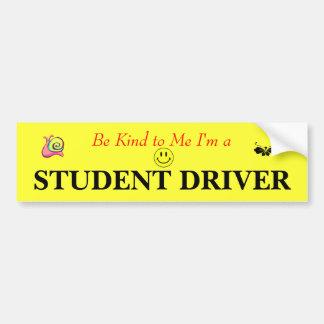 Student Driver Bumper Sticker Car Bumper Sticker