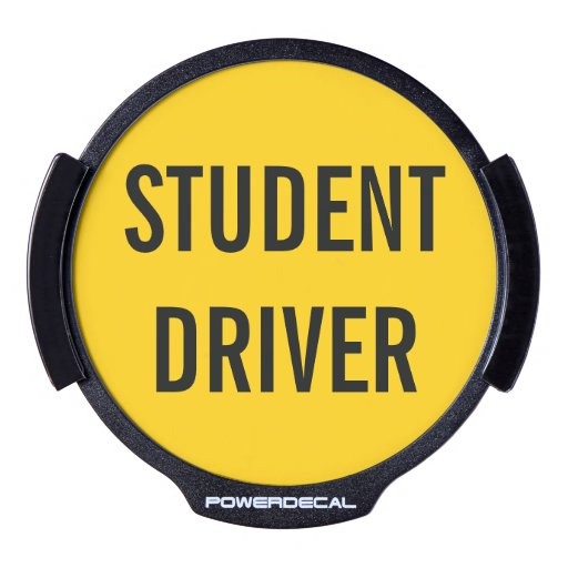 Driver S Education: Student Driver Funny Warning Driver's Ed LED Car Decal