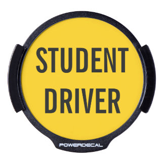Student Driver Funny Warning Driver's Ed LED Window Decal
