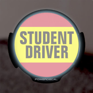 Student Driver LED Car Decal