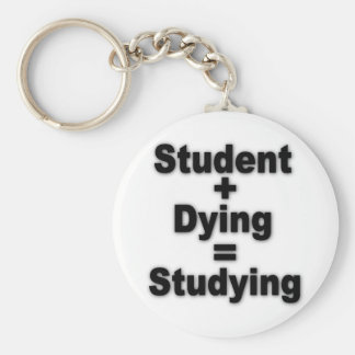 Student Dying Studying Basic Round Button Keychain