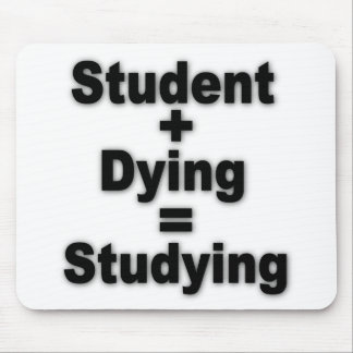 Student Dying Studying Mouse Pad