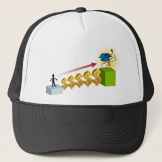 Student Financial Aid Goal Graphic Trucker Hat
