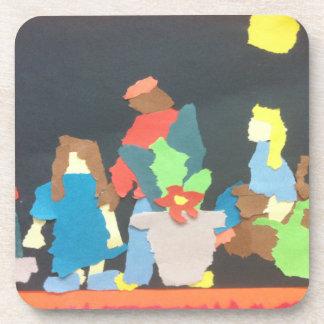 Student Gardening Paper Collage Coaster