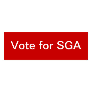Student Government Association (SGA) Skinny Double-Sided Mini Business Cards (Pack Of 20)