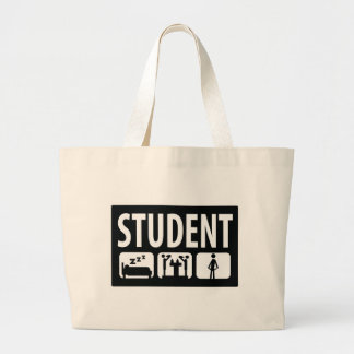 student icon large tote bag