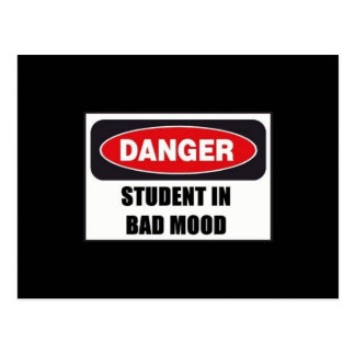Student in Bad Mood! Post Cards