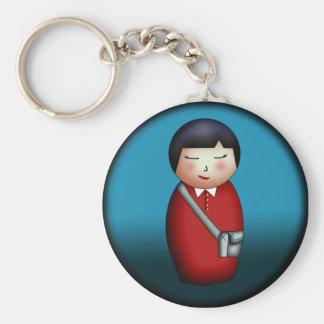 Student Kokeshi, keychain
