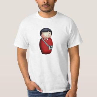 Student Kokeshi, light shirt
