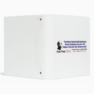Student Loans Goldie Taylor Ron Paul 2012 3 Ring Binders