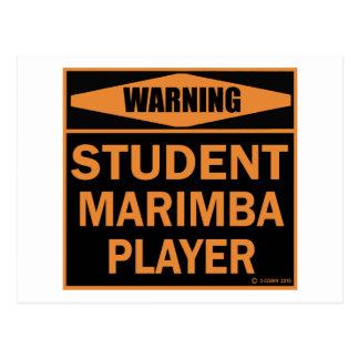 Student Marimba Player Postcard
