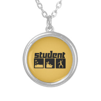 Student Round Pendant Necklace