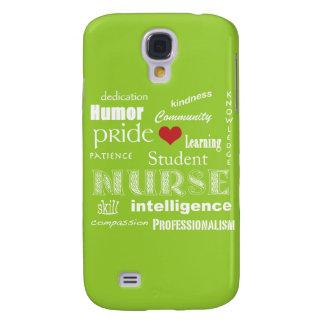 Student Nurse-Attributes /Cool Green Samsung Galaxy S4 Case