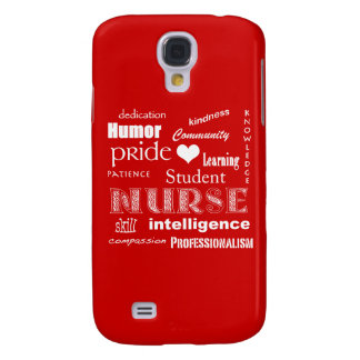 Student Nurse-Attributes /Fire Engine Red Samsung Galaxy S4 Cover