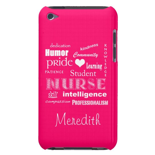 Student Nurse-Attributes+Heart and Name iPod Touch Cover