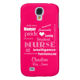 Student Nurse-Attributes+Name /Hot Pink Galaxy S4 Case