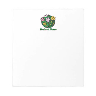 Student Nurse Blooms Notepad