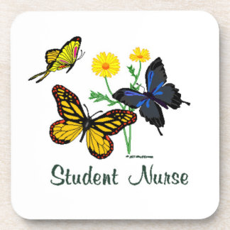 Student Nurse Butterflies Beverage Coaster