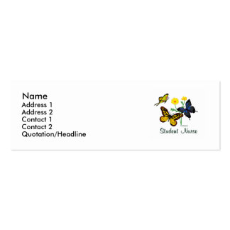 Student Nurse Butterflies Double-Sided Mini Business Cards (Pack Of 20)
