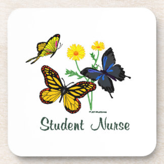 Student Nurse Butterflies Drink Coaster