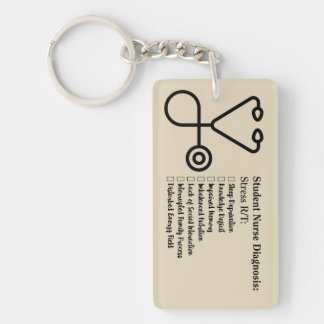 Student Nurse Diagnosis Keychain