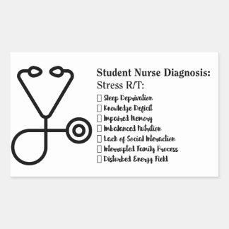 Student Nurse Diagnosis Rectangular Sticker