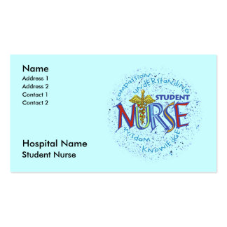 Student Nurse Double-Sided Standard Business Cards (Pack Of 100)