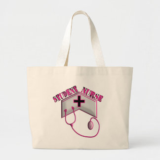 Student Nurse EMBOSSED Cap and Stethoscope Tote Bags