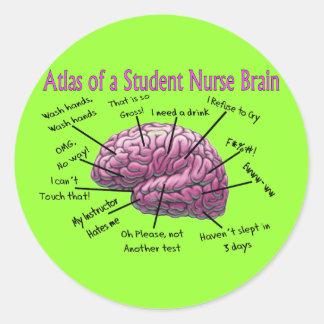 Student Nurse Gifts Classic Round Sticker