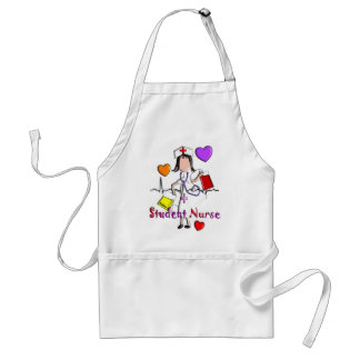 Student Nurse Gifts Embossed Style Graphics Adult Apron