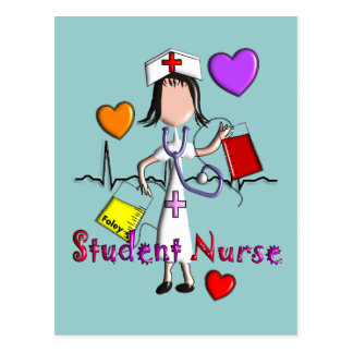 Student Nurse Gifts Embossed Style Graphics Postcard