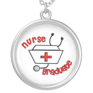 Student Nurse Graduation Necklace Sterling Silver