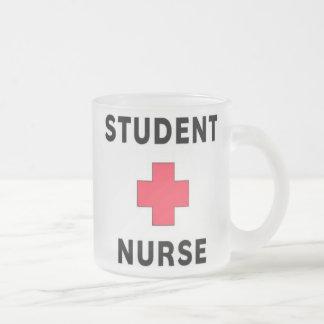 Student Nurse 10 Oz Frosted Glass Coffee Mug