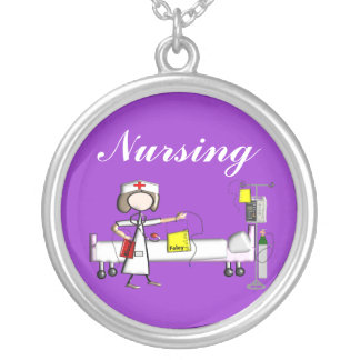 Student Nurse Necklace Sterling Silver