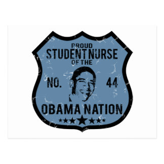Student Nurse Obama Nation Postcard