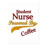 Student Nurse Powered By Coffee Postcard