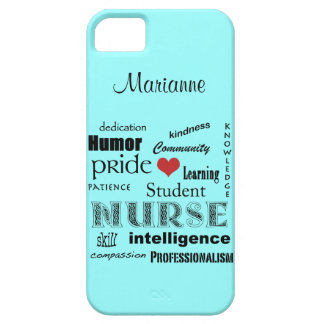 Student Nurse Pride-Attributes /Aqua Mist iPhone SE/5/5s Case