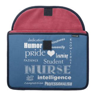 "Student Nurse Pride-Attributes/Blue/13"" Sleeve For MacBooks"