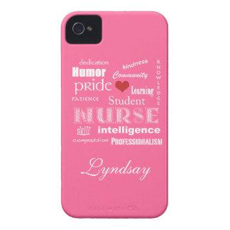 Student Nurse Pride-Attributes-Bubble Gum Pink iPhone 4 Cases