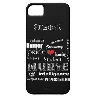 Student Nurse Pride-Attributes /Ebony iPhone 5 Case