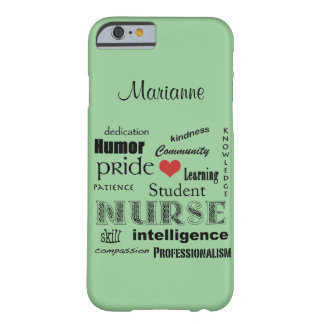 Student Nurse Pride-Attributes /Green Mist Barely There iPhone 6 Case