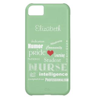 Student Nurse Pride-Attributes /Green Mist iPhone 5C Covers