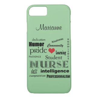 Student Nurse Pride-Attributes /Green Mist iPhone 7 Case