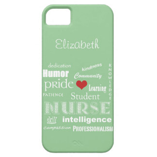 Student Nurse Pride-Attributes /Green Mist iPhone SE/5/5s Case