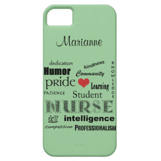 Student Nurse Pride-Attributes /Green Mist iPhone SE/5/5s Case