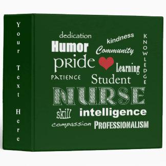 Student Nurse Pride-Attributes/Green+Red Heart Binder